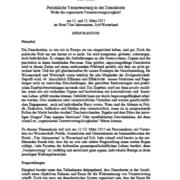 Memorandum: Persönliche Verantwortung in der Demokratie